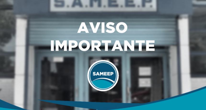 SAMEEP COMUNICA PRÓRROGA DE VENCIMIENTOS DE FACTURAS