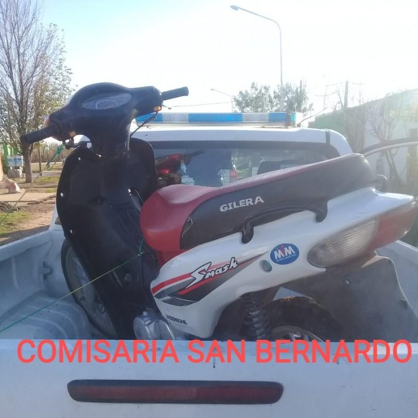 San Bernardo: RECUPERAN UNA MOTO ROBADA EN HORAS DE LA MADRUGADA Y FUE LLEVADA A LA TIGRA