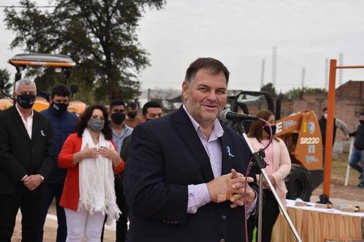 FESTEJO CENTENARIO:  El intendente de Corzuela celebró la ejecución de nuevas obras en contexto de los 100 años de la localidad