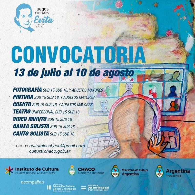 Se abrió en la provincia la inscripción para los Juegos Culturales Evita 2021