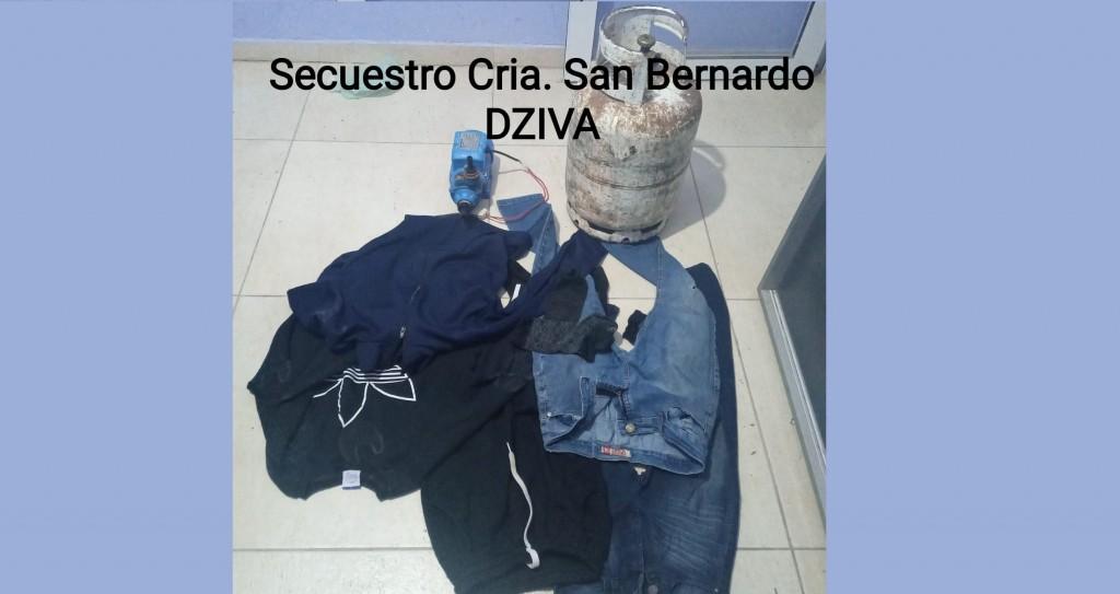 San Bernardo: DEMORAN A UN MENOR Y RECUPERAN LOS ELEMENTOS SUSTRAÍDOS A UN DOMICILIO