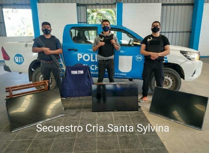 Santa Sylvina: RECUPERAN 3 TELEVISORES Y DETIENEN A 7 PERSONAS POR EL HECHO.