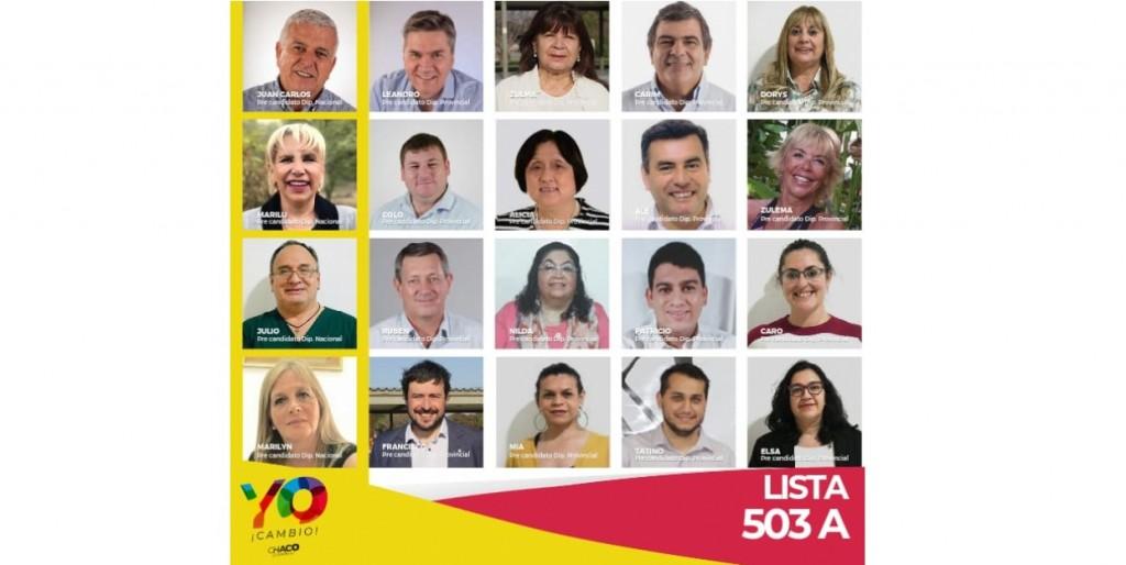 Lista 503 A Yo Cambio ya tiene sus precandidatos a diputados provinciales y nacionales
