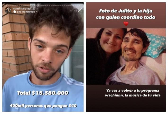 Santiago Maratea anunció que recaudará dinero para ayudar al locutor Julio Sosa