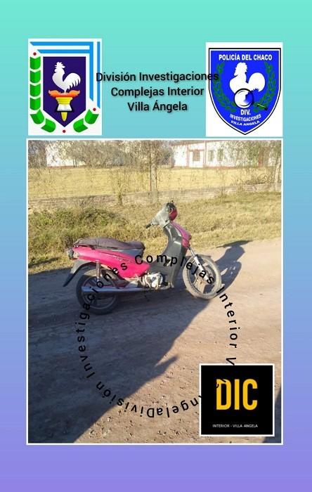 Villa Ángela: Logran recuperar una Motocicleta robada cuando los Delincuentes intentaban Saltar el Cerco Perimetral de  una Capilla