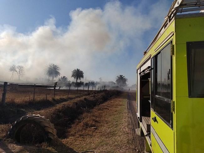 Villa Ángela: Un  Incendio de Pastizales afecto una superficie de alrededor de Dos Hectáreas