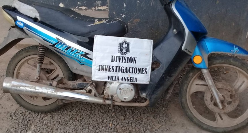 DIVISIÓN DE INVESTIGACIONES LOGRÓ EL RECUPERO DE UNA MOTOCICLETA