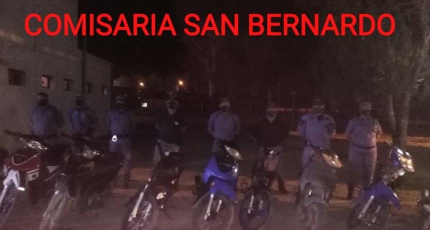 San Bernardo: 15 ACTAS Y 12 MOTOS SECUESTRADAS FUE EL RESULTADO DEL OPERATIVO PREVENTIVO GENERAL