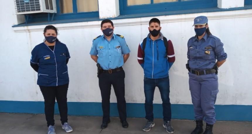EL EFECTIVO POLICIAL LESIONADO Y CON 3 PÉRDIDAS DENTARIAS RECIBIÓ ATENCIÓN, PSICOLÓGICA, MÉDICA Y SOCIAL