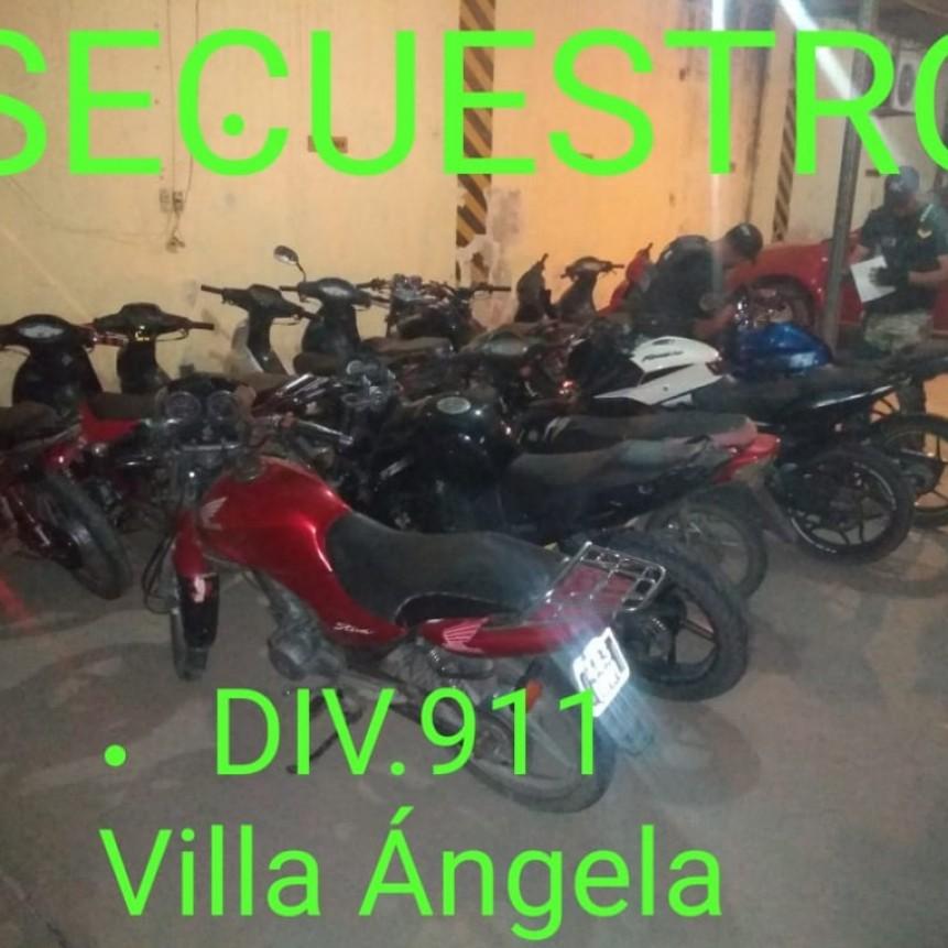Villa Ángela: 16 MOTOS FUERON SECUESTRADAS ESTE FIN DE SEMANA OPERATIVO POLICIAL