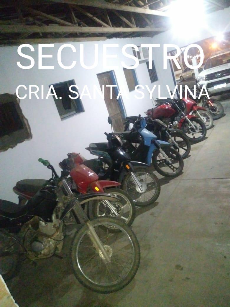 Santa Sylvina: 14 ACTAS DE INFRACCIÓN Y 10 MOTOS SECUESTRADAS RESULTARON DEL OPERATIVO DE SEGURIDAD