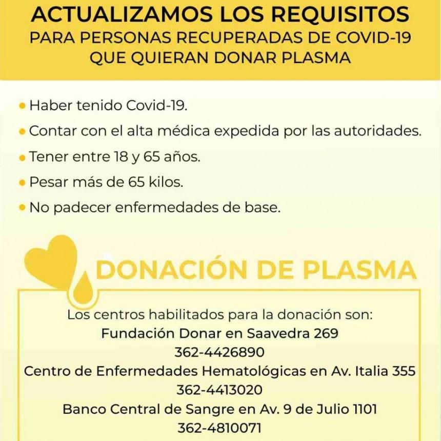 SALUD CONVOCA A PERSONAS RECUPERADAS DE COVID-19 PARA LA DONACIÓN DE PLASMA