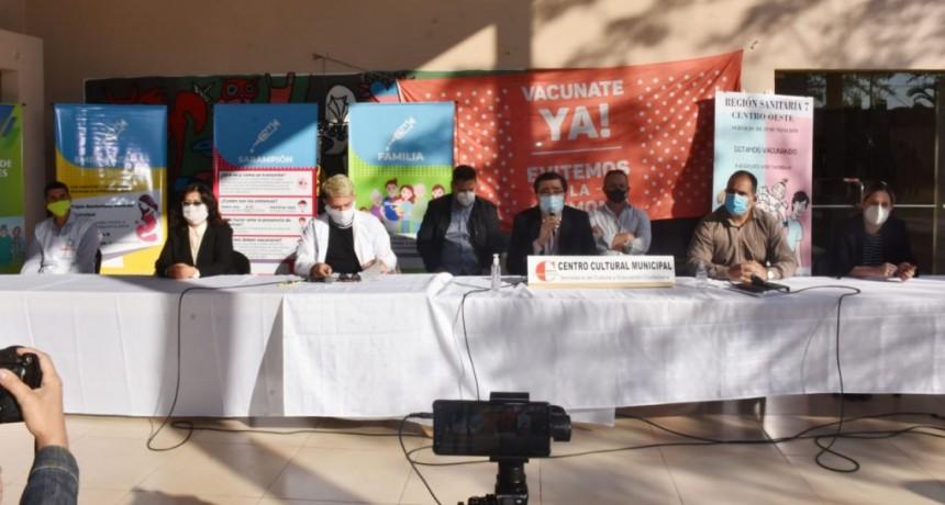 Con apoyo del Municipio comenzó la campaña de vacunación masiva en Sáenz Peña