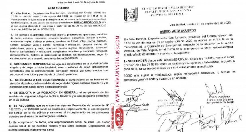 Villa Berthet: RESTRINGE EL INGRESOS PROVENIENTES DE VILLA ÁNGELA