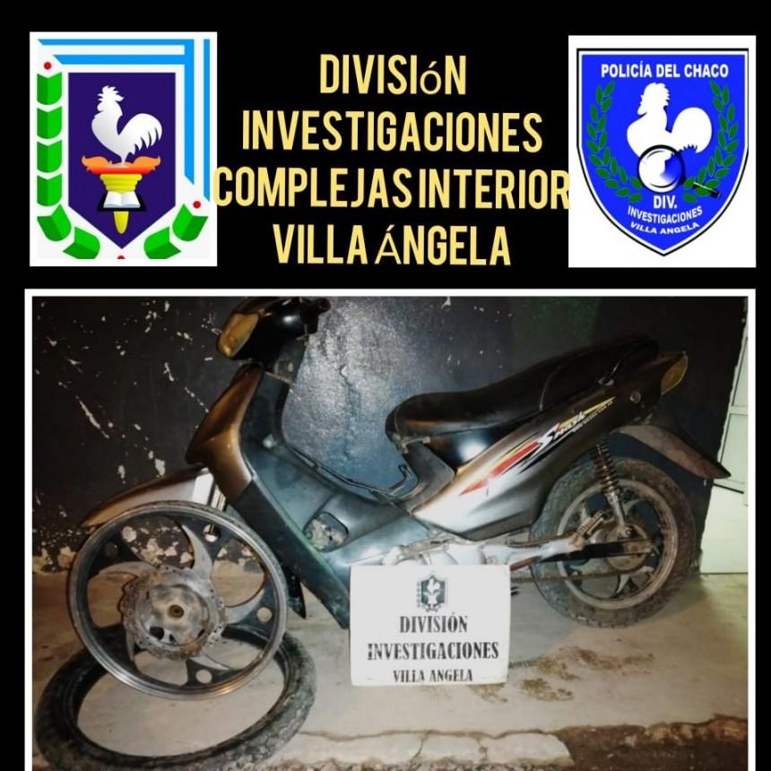 Villa Ángela: RECUPERAN UNA MOTO ROBADA EL 16 DE AGOSTO