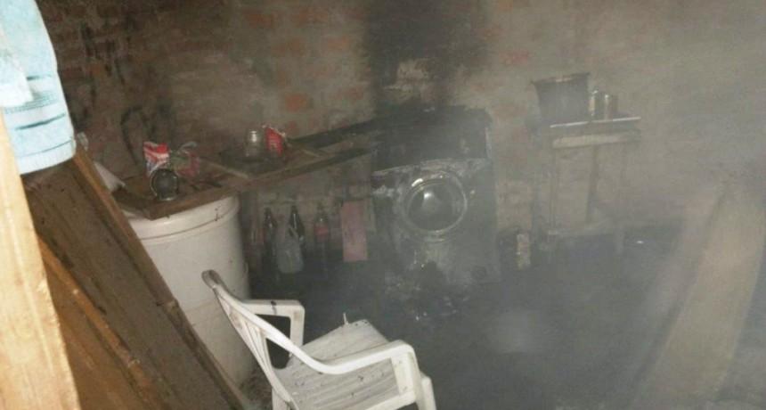 San Martin: Dejó una vela encendida y se prendió fuego su vivienda