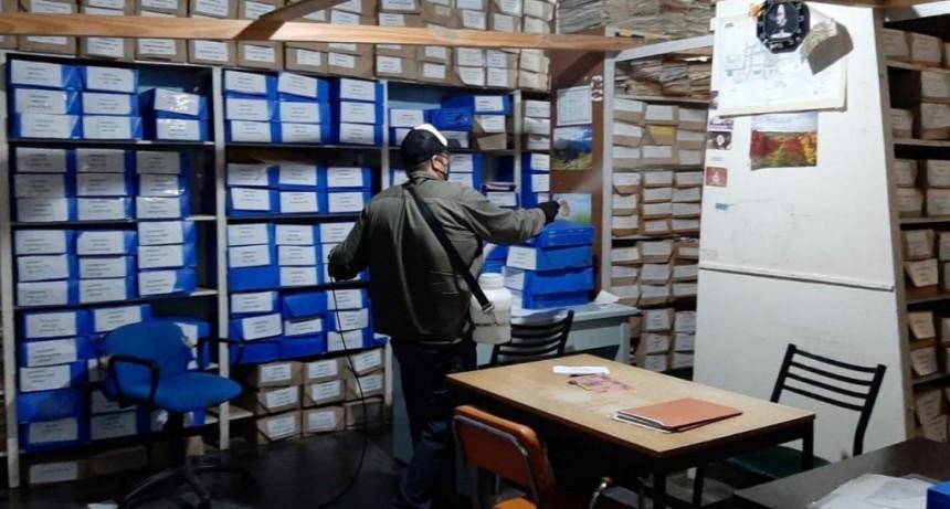 Villa Ángela: EL MUNICIPIO CONTINÚA CON LOS TRABAJOS DE DESINFECCIÓN