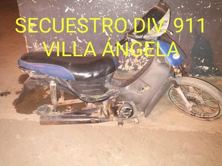 Villa Ángela: Recuperan una Motocicleta Robada y continúan Intensamente con la Búsqueda del Autor