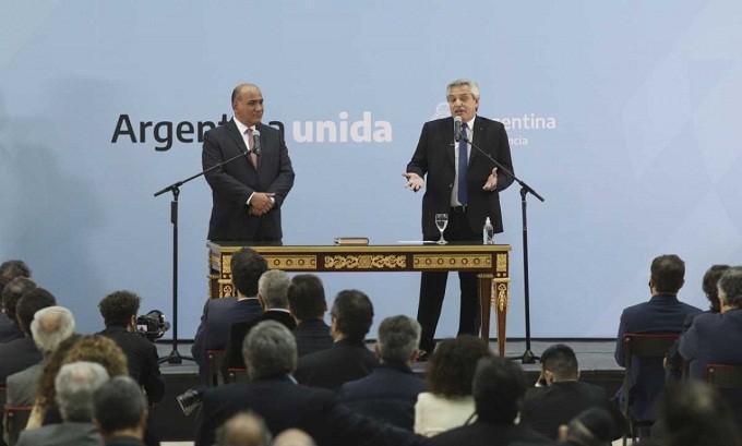 Alberto Fernández en la asunción del nuevo Gabinete: