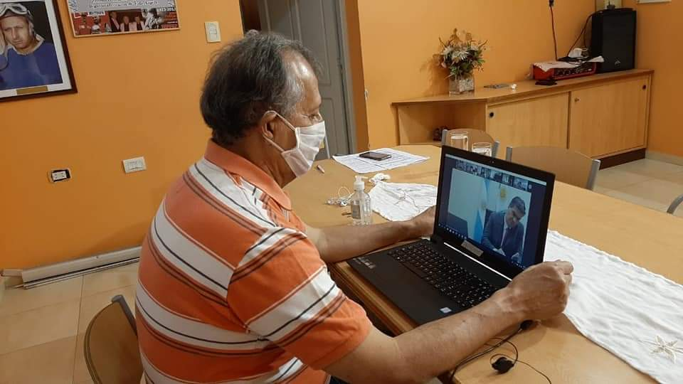 Villa Ángela: EL INTENDENTE PAPP PARTICIPÓ DE UNA VIDEOCONFERENCIA CON EL GOBERNADOR CAPITANICH