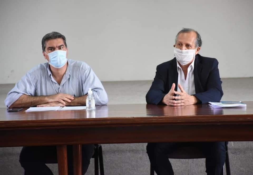 Villa Ángela: EL INTENDENTE PAPP Y EL GOBERNADOR CAPITANICH SE REUNIERON PARA REFORZAR LOS CONTROLES DE BIOSEGURIDAD
