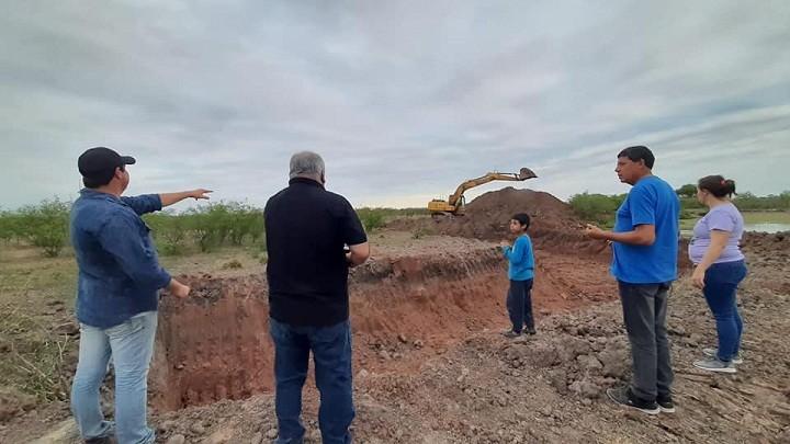 San Bernardo: El Municipio Continúa con los Trabajos de Reservorio de Agua a Pequeños Productores