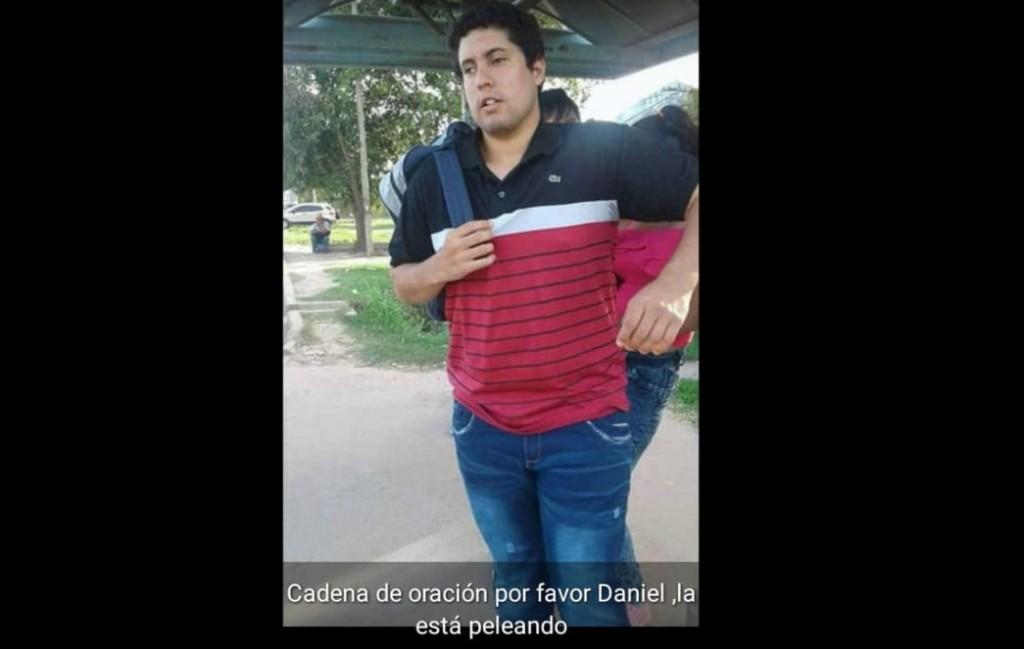 El joven no vidente atacado por el femicida de Marilú sigue internado en grave estado en el Perrando