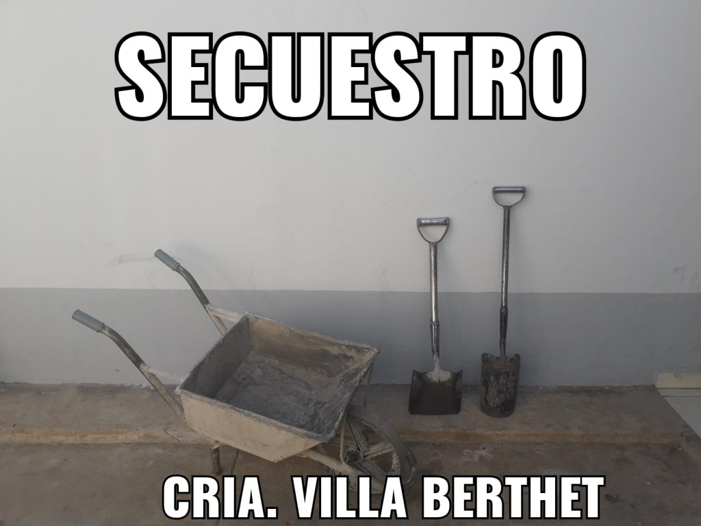 Villa Berthet: LOGRAN EL RECUPERO DE HERRAMIENTAS MUNICIPALES QUE FUERON ROBADAS