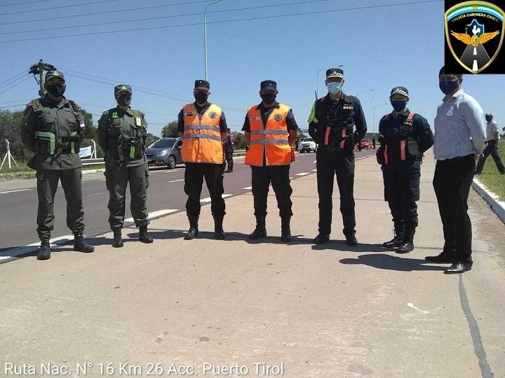 TRABAJO INTERFUERZAS: Policía Caminera suma nuevos operativos de seguridad en las rutas de la provincia