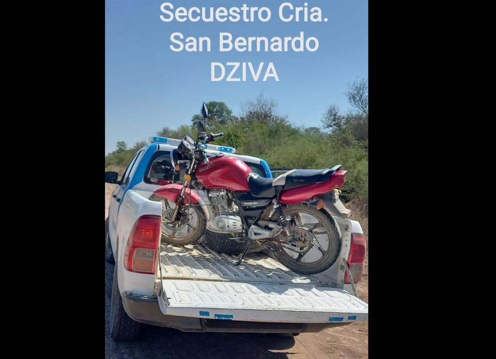 San Bernardo: DETIENEN A DOS MENORES Y LOGRAN EL RECUPERO DE UNA MOTOCICLETA