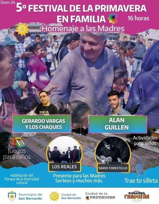 San Bernardo: Invita al 5º Festival de la Primavera en Familia