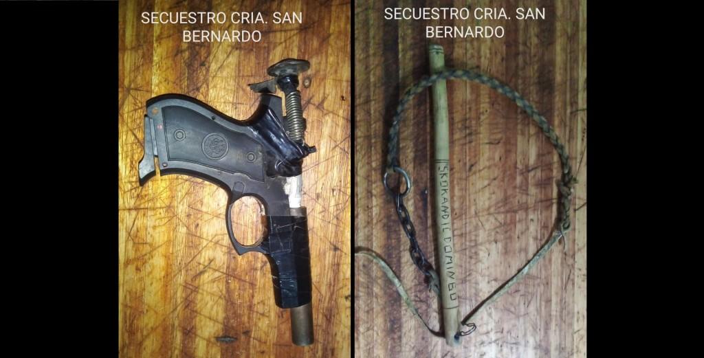 San Bernardo: SECUESTRAN UN ARMA DE FUEGO, DETIENEN A 2 PERSONAS Y DEMORAN A UN MENOR EN UN DESORDEN EN LA VÍA PÚBLICA