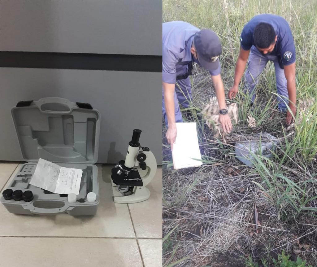 PERSONAL POLICIAL DE SAN BERNARDO LOGRA RECUPERAR UN MICROSCOPIO DE ALTO VALOR A LOS MINUTOS DE SER SUSTRAIDO DE UNA ESCUELA RURAL